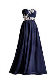 Dark Navy Lange Brautjungfernkleider Applique Perlen Pailletten Bodenlangen Schatz Grün Rot Rosa Blau Robe De Soiree Abendkleid von Fabrikanten