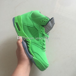 Wholesale Size 13 Shoes For Men - 2018 Cheap Hot New 5 5s V Green mens Basketball Shoes Athletic Sports Sneakers trainers outdoor designer running shoes for men Size US 8-13