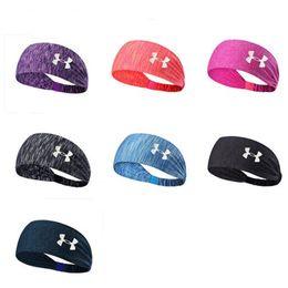 Wholesale Fashion Head Wraps - Under Sweat Wicking Stretchy Athletic Bandana Headscarf Yoga Headband Head Wrap Best for Sports or Fashion Exercise