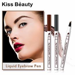 crème caramel Promotion Kiss Beauty stylo microblading imperméable longue durée 3 couleur fourche pointe de tatouage de sourcil crayon crayon sourcil sourcil KB007026