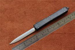 "Wholesale Auto Mic - Free shipping mic knife High quality MIKER Makora II Knife D A Auto Titanium (4.45"" Satin Plain) 106-4Ti,Outdoor camping survival EDC tools"