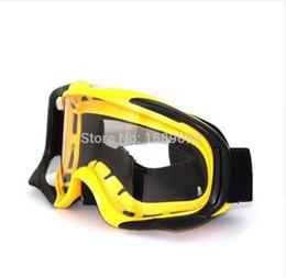 Motocross elmetto giallo online-Giallo professionale casco da motocross Occhiali da moto Occhiali da moto Racing googles sci snowboard occhiali off-road
