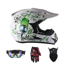 Motocicleta capacetes óculos on-line-Top ABS Motobiker Capacete DH Motorcycle Racing Capacete Off-road Montanha em declive Adequado para criança com óculos de proteção