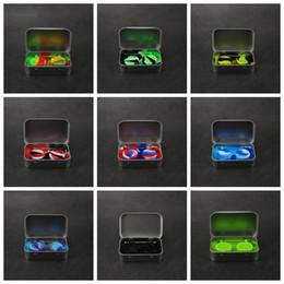 Kit portautensili portatile online-Kit di stoccaggio in silicone 4 in 1 Set con 2 pezzi 5ml Contenitore di cera siliconica Base per vaso di olio Argento Dab Dabber Tool Scatola metallica Custodia portatile VAPE