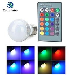 E27 E14 LED 16 Changement de couleur RGB Magic Light Ampoule Lampe LED Spotlight + 24Keys IR Télécommande AC85-265V éclairage de vacances ? partir de fabricateur