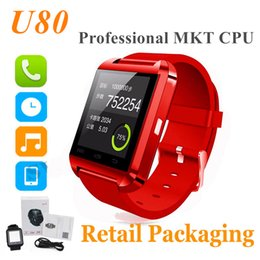Wholesale recording package - U8 Smart Watch Bluetooth smartwatch with Camera Intelligent Mobile Phone Watch Fitness Tracker Can Record Sleep State with Retail Package