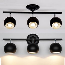 Wholesale Headlight Dome - black ceiling lamps be turned dome light clothing store LED spotlights track lights installed TV background headlights light