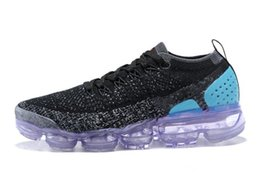 Wholesale designer fashion women flat shoes - 2018 vapormax 2.0 Flagship Shoes men women new white Black grey blue pink knitting trainers fashion designer sneakers Casual shoes