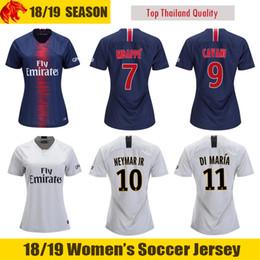 womens soccer shirts Coupons - 18 19 MBAPPE Womens Soccer Jerseys 2018  CAVANI Womens Football Shirt 2ad204d79