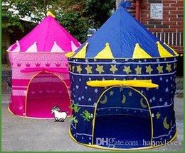 mädchen spielen zelte Rabatt Kinder spielen Zelt neue tragbare Mädchen Rosa Prinzessin spielen Zelt Kinder Kinder Schloss Cubby Play House Cute Spielzeug Spiel Haus Baby Crawling House