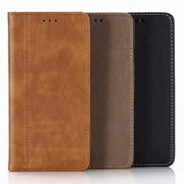 Bolsa magnética magnética para iphone on-line-Chupar carteira de couro para iphone xr 6.1 xs max 6.5 moldura slot para cartão de foto de luxo bolsas capa flip bling bolsa magnética bolsa de encerramento da pele
