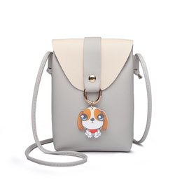 c59b7dab11c1 Cute Animal Dog Women Shoulder Bags Small Handbags Girls Phone Bags Womens  Messenger with Flap Hanging Ornament Mini Bag QF