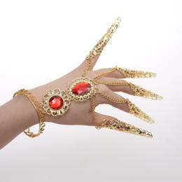 Fingersatz indische Tanzzubehör Ring Armband Tanzzubehör zeigen lange Finger DHL Freeshipping von Fabrikanten