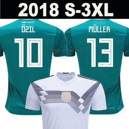 Wholesale Germany National - 2018 MULLER OZIL Germany Soccer Jersey away green world cup DRAXLER KROOS HUMMELS WERNER SANE KIMMICH alemania national team football shirts