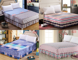 Wholesale full bedskirt - Retro Cotton Bed Skirt Mattress Cover Petticoat Twin Full Queen King Bed Skirts Bedspread BEDSKIRT 200*220cm 120x200cm Cover