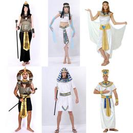 Traje de rey faraón online-lothes germany Umorden Disfraces de Halloween Antiguo Egipto Egipcio Faraón Rey Emperatriz Cleopatra Queen Costume Cosplay Ropa para hombres Wo ...