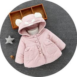 Mês jaqueta inverno on-line-Bebê Jacket casaco quente casaco com capuz bebê recém-nascido Casacos Menina do inverno Bebês quentes Casacos 6-36 meses