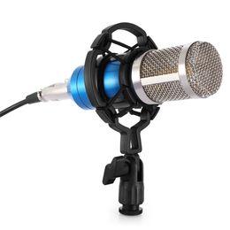 Bilgisayar bm 800 için profesyonel Kondenser Mikrofon Ses Stüdyo Vokal Kayıt Mikrofon KTV Karaoke + Mikrofon Dağı nereden gizli güvenlik kameraları sesi tedarikçiler