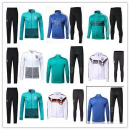 Wholesale germany coat - 2018 germany white green world cup soccer tracksuit 18 19 DRAHLER kroos muller ozil GORETZKA HUMMELS coat football jacket training suit kits