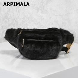 black faux fur pillows Promo Codes - ARPIMALA Women Faux Fur Fanny Pack  White Black Fur de602b73f7