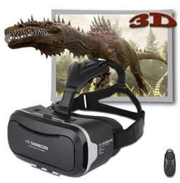 Versiones de caja vr online-Cardboard VR Shinecon2.0 BOX Version Virtual Reality Gafas 3D + Smart Bluetooth4.0 Control remoto inalámbrico Gamepad