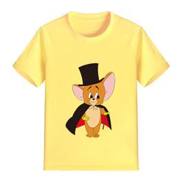 Wholesale Cuts Clothing - NEW ARRIVAL Children Cartoon T Shirt Cut Mouse Printed Boy Kid Clothes Short Sleeve Girl Tee Shirt Kid Summer P1986