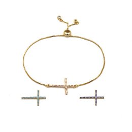 Wholesale Nature Cross - 2018 New arrival Brass material chain with cross and nature stone decorate for women braclet in largest 23cm length women and mother's day g