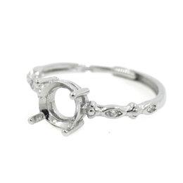 925 Sterling Silber Verlobungsring für Frauen Kristall 5x5mm 7x7mm 6x6mm Oval Cabochon Semi Mount Ring Einstellung DIY Stein von Fabrikanten