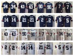 Wholesale Newton White - Auburn Tigers Men Jersey 43 LUTZENKIRCHEN 34 JACKSON 90 FAIRLEY 7 SULLIVAN 2 NEWTON 14 MARSHALL 21 MASON 5 DYER Men College Football Jersey