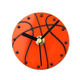 Argentina VENTA CALIENTE Reloj de Pared 3D Creativo Deportes Baloncesto Refrigerador Campana Reloj de Pared Magnético Mudo (Succión directa en el refrigerador clo Suministro