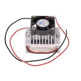 denso conectores Desconto Kit DIY Thermoelectric Peltier Cooler Sistema de Refrigeração Refrigeração Dissipador De Dissipador De Calor Módulo de Condução + Ventilador Sistema De Arrefecimento De