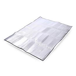 Tapis de camping double en Ligne-Le camping en plein air petit coussin à double face feuille d'aluminium tampons d'humidité corps éponge approprié pour les tentes doubles tapis de pique-nique imperméables