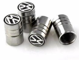 Wholesale Vw Auto Accessories - Auto Car Accessories Wheel Tire Valves Tyre Stem Air Caps Cover case For Volkswagen vw polo passat b5 b6 Car Styling 4PCS LOT