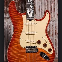 Солнечная вспышка онлайн-Custom Shop Stevie Ray Vaughan SRV номер один Hamiltone Cherry Sunburst ST Электрогитара в комплекте с кудрявой верхней частью из кленового пламени, звукосниматели SSS