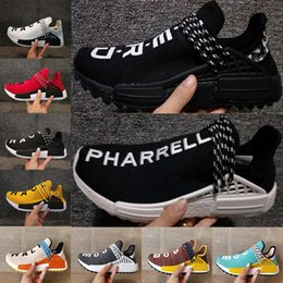 Wholesale Red Trails - Pharrell x Original HU NMD Trail HUMAN RACE nmds NERD black Colette men women sports sneaker moon noble ink pale nude running Shoes