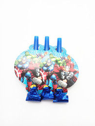 fun cartoon games 2018 - 6PC Avenger Cartoon Noise Maker Birthday Party Have Fun Game Supplies For Children Blow out Decor