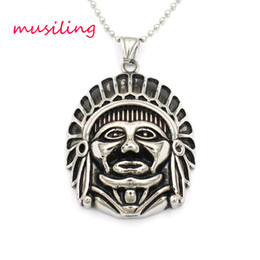 Wholesale Chief Pendant - Pendants Necklace Chain Stainless Steel Egypt's Chief Sheikh Jewelry for Women Mascot Totem Charms Healing Chakra Amulet Fashion Accessories