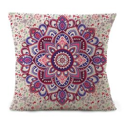 Wholesale Colorful Pillows - 1 PCS Europe style colorful geometry pillowcase 45*45cm abstract printing pillow cover 4 style sofa cotton and linen pillow case free ship