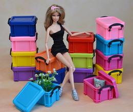 2019 roupas de armário Brand new boneca roupas sapatos caixa de armazenamento / armário para 1: 6 boneca BA001 roupas de armário barato