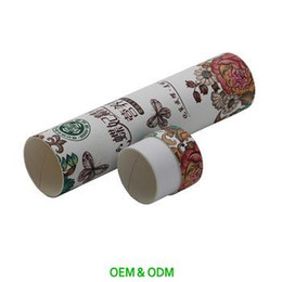 Wholesale Industry Tube - Eco-friendly Latest Design Recycled Window Cosmetic Packaging Tube Box Gold Industry