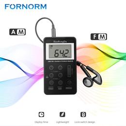 FORNORM AM FM Radio stéréo Mini Tuning numérique USB Radio FM Fréquence numérique avec lanière LCD et écouteurs ? partir de fabricateur