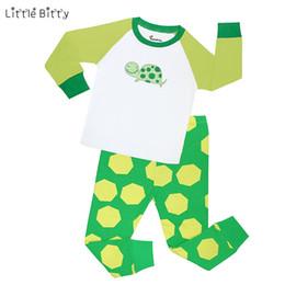 Wholesale Dinosaur Pyjamas - Little Bitty Kids Pajama Set Dinosaur Boys Sleepwear 2-7 Years Girls Pijamas Set Children's pyjama T-shirt Pants Baby Girl Boy