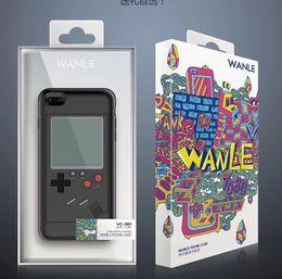 Консольная игра тетрис онлайн-Gameboy Tetris Retro Game Consoles Phone Back Игровой пристав TPU для iPhone X 6 6s 7 8 плюс защита от ударов с защитой от ударов Shell Retail package 20p