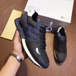Wholesale best quality denim - Men casual shoes luxury brand sneakers Best quality fashion men's shoes With box Size 38-44 model 277102852