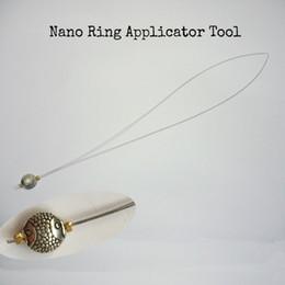 kit de herramientas de extensión de cabello micro perlas Rebajas 10 Unidades Nano Ring Threader / Pulling nano ring Herramientas / Stainles aplicadores de cabello para cabello con punta de fusión