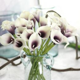 centrotavola artificiale di giglio di calla Sconti Calla Lilies Real Touch Fiori per Mazzi di nozze Centrotavola fiori artificiali per la decorazione di nozze