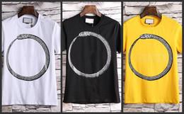 2018 Designer vêtements de luxe marque hommes manches courtes T-shirt rond lettre serpent imprimé animal t-shirt Runway Tees femmes occasionnels en coton Top ? partir de fabricateur