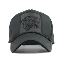 Wholesale Leopard Print Baseball Hats - 2018 Hip Hop Black leopard Print Curved Baseball Caps Summer Mesh Snapback Hats For Women Men casquette Trucker Cap