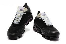 Wholesale Womens Fashion Plastic Shoes - 2018 Vapormax black white Trainers Breathe Shoes For Mens Womens fashion designer R vapormaxs Knit Sneakers Sports Shoes 36-45
