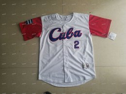 Wholesale Wbc Jersey - CUBA 2017 World Baseball Classic WBC Jersey White Grey Double Stiched Name & Number Cumtom For Men Women Youth